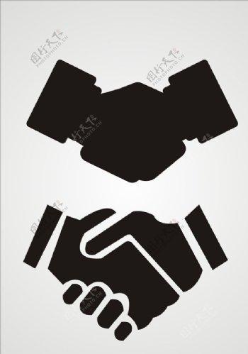 矢量握手合作图标图片