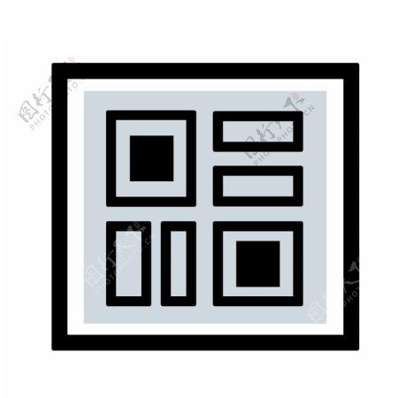 黑色手绘二维码图片