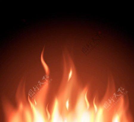 燃烧的火焰矢量图片