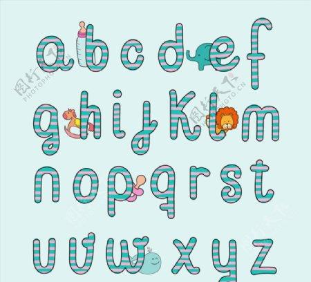 婴儿风格英文字母图片