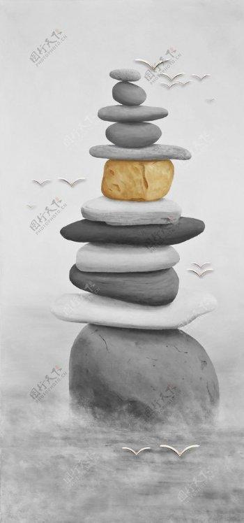 禅意石头图片
