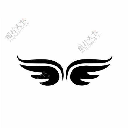 翅膀logo纹身素材橡皮章图片