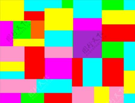 幼儿园彩色矩形拼接图片
