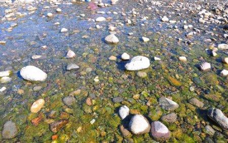 河边鹅卵石图片