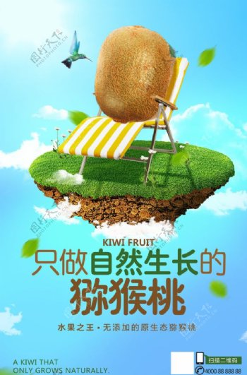 猕猴桃广告海报图片