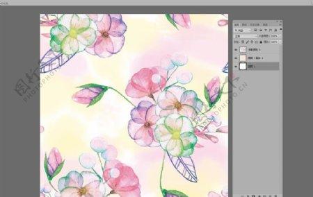 炫彩唯美抽象手绘花卉碎花图片