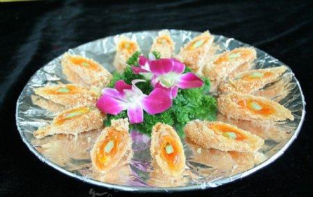 家常菜黄金白玉珊瑚卷图片