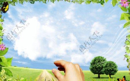 春天风景画图片