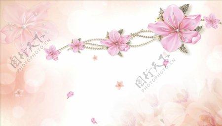浮雕花花藤蝴蝶花瓣背景墙图片