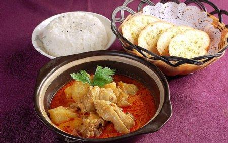 亚洲美食新加坡咖喱鸡图片
