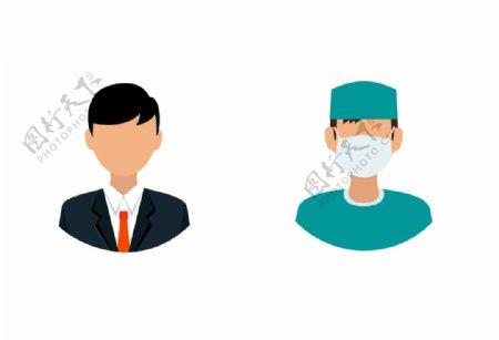 卡通企业医生头像图片