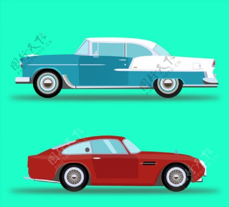 轿车设计矢量图片