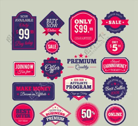 精致销售标签图片