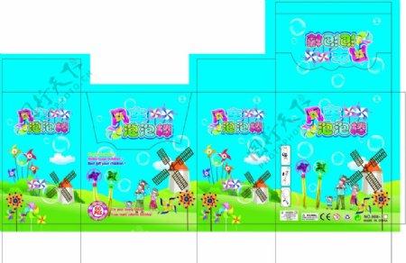 儿童玩具带有风车的泡泡棒图片