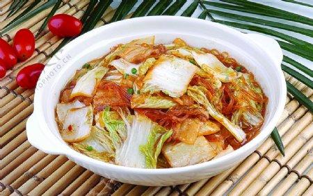 大白菜粉丝盐煎肉图片