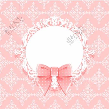 蝴蝶结装饰背景图片