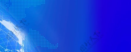 蓝色展板图片