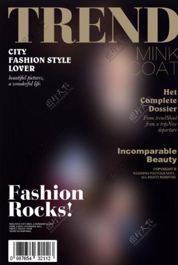 欧美时尚杂志封面设计图片