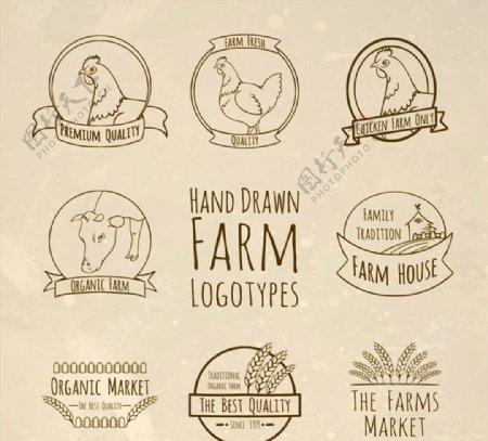 手绘农场标志图片