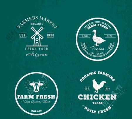 农场元素标志图片