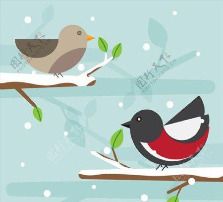 几何卡通小鸟图片