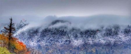 峨眉山第一场雪图片