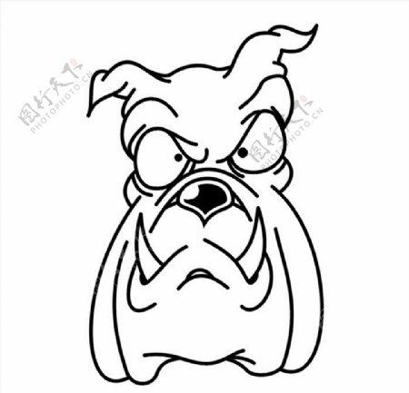 恶犬狗头CDR矢量图图片