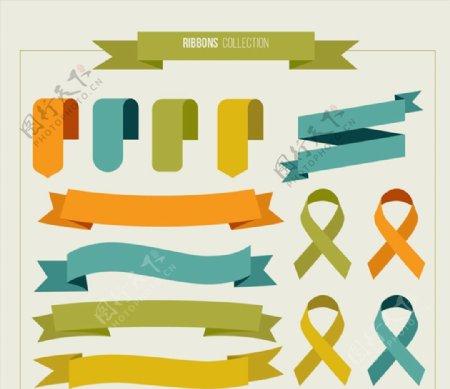 扁平化丝带设计图片