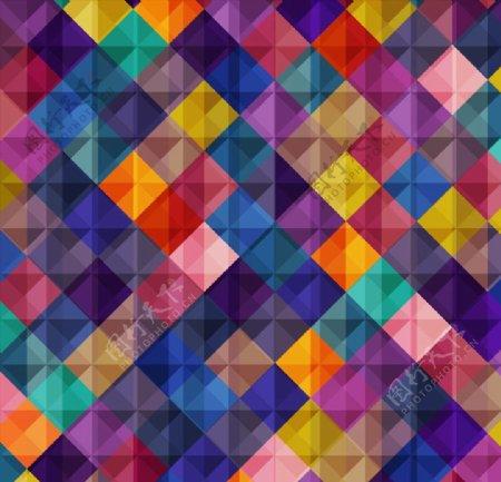 菱形拼接背景图片
