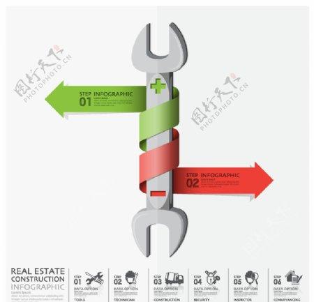 铅笔商务信息图表图片
