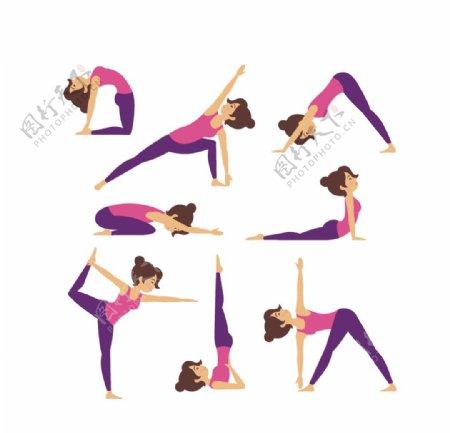 女性瑜珈运动图片