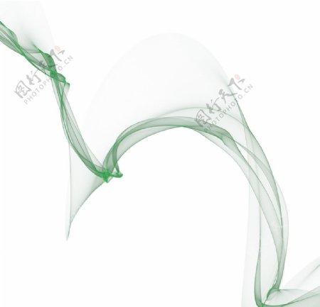 绿色丝带图片