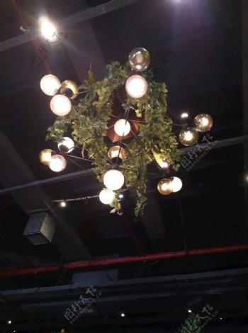 吊灯灯光图片