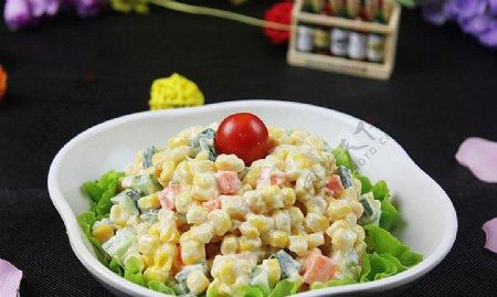 日韩料理玉米沙拉图片