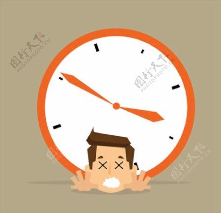 闹钟与商务人物图片