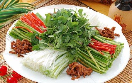 东北菜肉丝老虎菜图片
