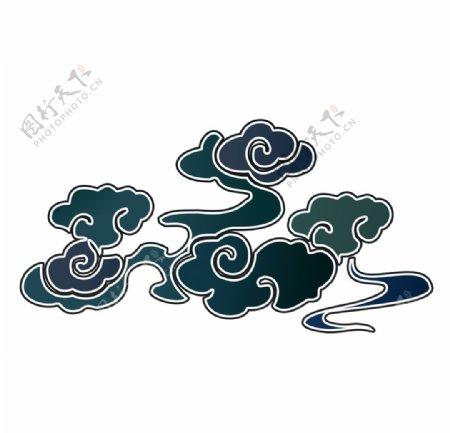 中国风泼墨装饰云彩图片