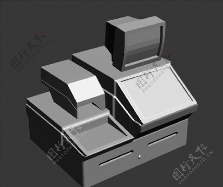 收银机3D模型图片