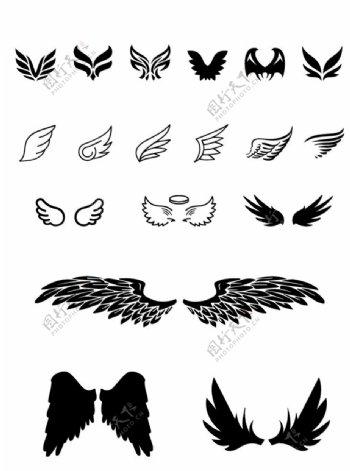 翅膀元素图片