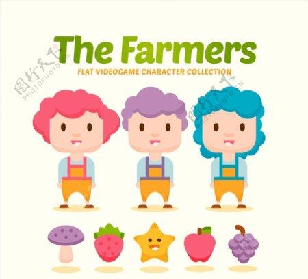 卡通农场游戏人物图片