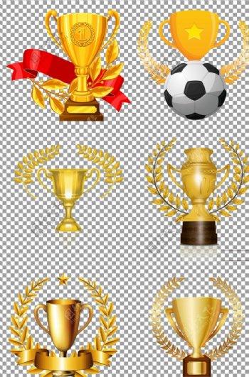 麦穗围绕的奖杯图片