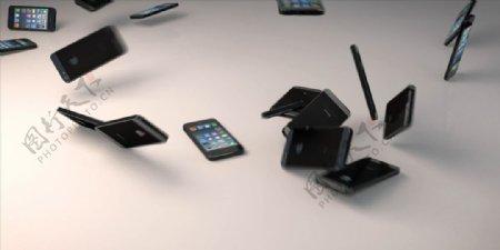 C4D模型动画掉落的苹果手机图片