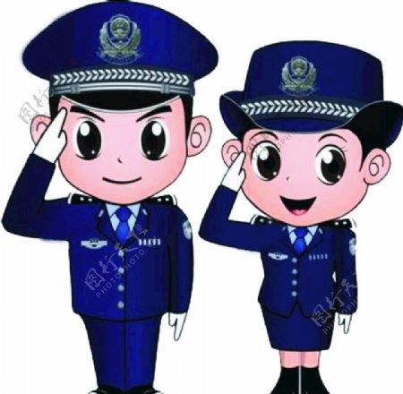 男女警察图片