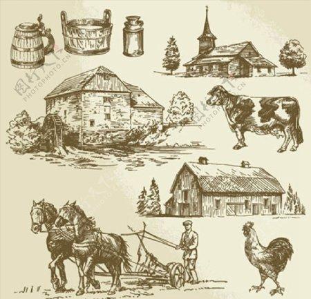 农业生产主题插图图片