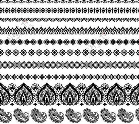 花纹图案分隔线图片
