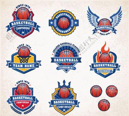 篮球队队徽矢量图片