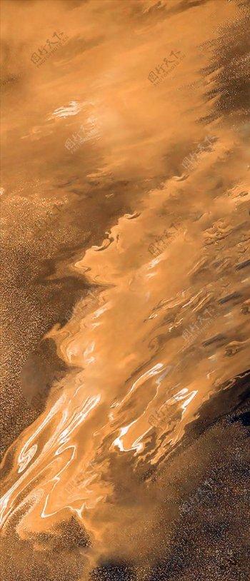 金黄波浪质感背景图片