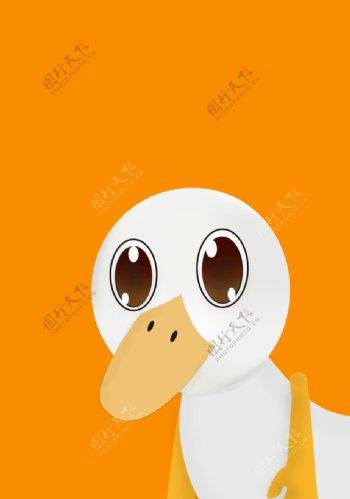 鸭子卡通图片