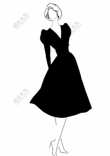 服装廓形图片