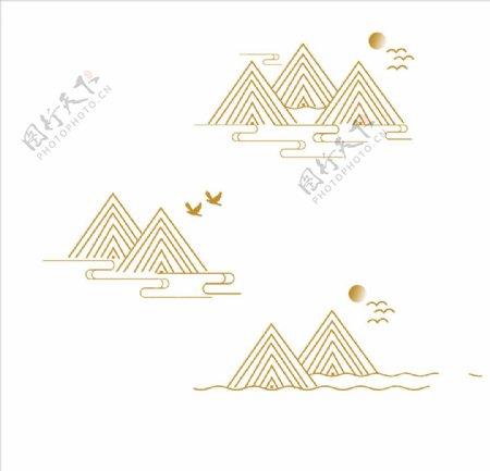 中国风古典山纹云纹花纹图案古风图片